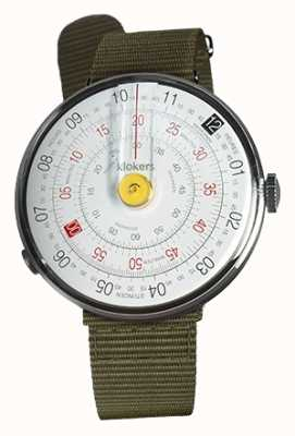 Klokers Klok 01 gelbe Uhr Kopf Flechten grün Textil einzigen Gurt KLOK-01-D1+KLINK-03-MC2