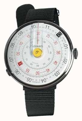 Klokers Klok 01 gelb Uhrenkopf schwarz Textileinzelarmband KLOK-01-D1+KLINK-03-MC3