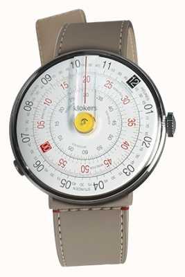 Klokers Klok 01 gelb Uhrenkopf grege Strait Einzelgurt KLOK-01-D1+KLINK-04-LC9