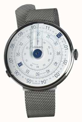 Klokers Klok 01 blauer Uhrenkopf aus Stahl-Milano-Armband KLOK-01-D4.1+KLINK-05-MC1