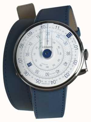 Klokers Klok 01 blau Uhrenkopf indigo blau 420mm Doppelgurt KLOK-01-D4.1+KLINK-02-420C3