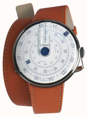 Klokers Klok 01 blauer Uhrenkopf orange 420mm Doppelgurt KLOK-01-D4.1+KLINK-02-420C8
