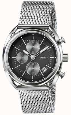 Breil Beaubourg Edelstahl Chronograph schwarzes Zifferblatt Mesh TW1513