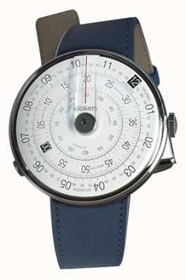 Klokers Klok 01 schwarzer Uhrenkopf indigoblauer einzelner Riemen KLOK-01-D2+KLINK-01-MC3