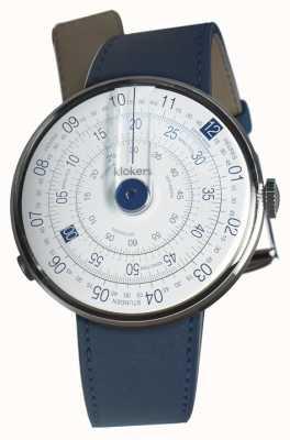 Klokers Klok 01 blau Uhr Kopf indigo blau einzelner Gurt KLOK-01-D4.1+KLINK-01-MC3