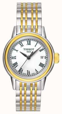 Tissot Carson Womens Quarz zwei Ton Swiss Made Datum T0852102201100