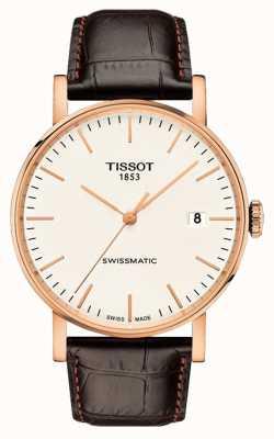 Tissot Herren swissmatic rosé vergoldetes Lederarmband T1094073603100