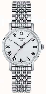 Tissot Womens immer kleine Saphir Silber Zifferblatt aus Edelstahl T1092101103300