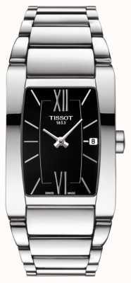 Tissot Womens generosi-t Edelstahl schwarz Tonneau Zifferblatt Datum T1053091105800