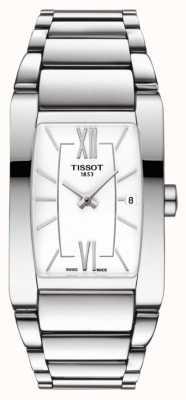 Tissot Womens generosi-t Edelstahl weißes Tonneau Zifferblatt T1053091101800