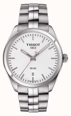 Tissot Mens pr100 Edelstahl Silber Zifferblatt T1014101103100