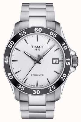 Tissot Mens v8 swissmatic Silber Zifferblatt Edelstahlarmband T1064071103100