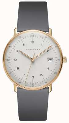 Junghans Max Rechnung Damen Quarz grau Leder Uhr 047/7854.04