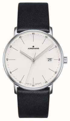 Junghans Form quarzschwarze Lederuhr 041/4884.00