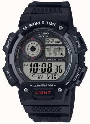 Casio Weltzeit-Alarm-Chronograph AE-1400WH-1AVEF