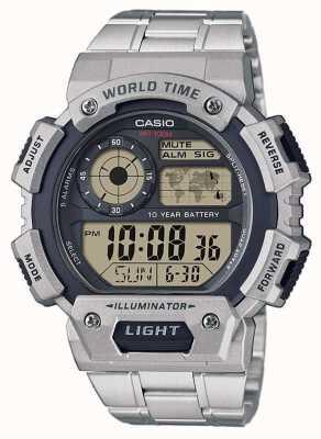 Casio Weltzeit-Alarm-Chronograph AE-1400WHD-1AVEF
