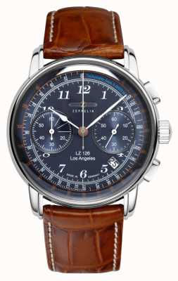 Zeppelin | lz126 | Los Angeles | blauer chronograph | 7614-3