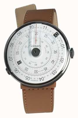 Klokers Klok 01 schwarzer Uhrenkopf karamellbrauner Kanal einzelner Bügel KLOK-01-D2+KLINK-04-LC12