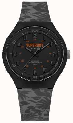 Superdry Urban XL tropischer Camo grau Silikonband SYG225E
