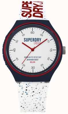Superdry Urban xl blau fleck weiß Silikonband SYG227W