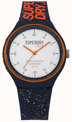 Superdry Urban xl fleck Marineblaues Silikonband SYG227U