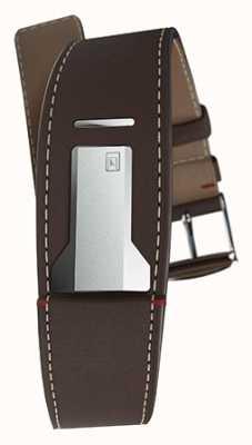 Klokers Klink 01 schokoladenbraunes Armband nur 22mm breit 230mm lang KLINK-01-MC4