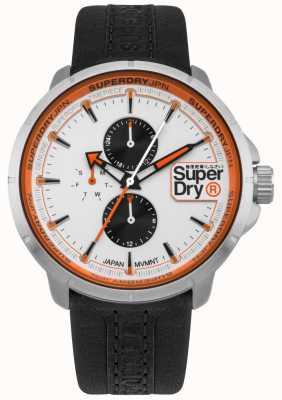 Superdry Kyoto Ranger schwarzes Armband weißes Zifferblatt SYG218WB