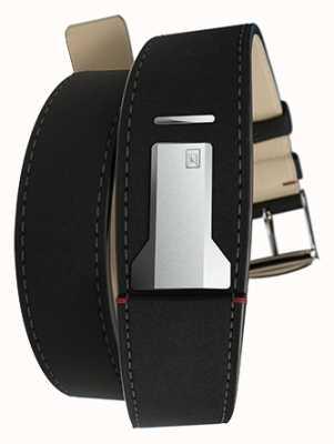 Klokers Klink 02 matt schwarz Doppelgurt nur 22mm breit 3420mm lang KLINK-02-420C2