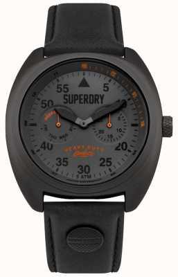Superdry Scout Flieger Date & Day Display schwarzer Gurt SYG229BB