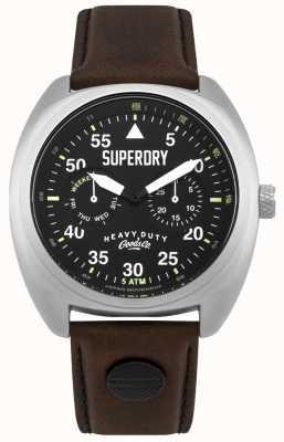 Superdry Scout Flieger Date & Day Display schwarzer Gurt SYG229BR