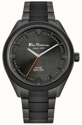 Ben Sherman Schwarzes Zifferblatt schwarz IP-beschichtetes Edelstahlgehäuse & Armband BS005BBM
