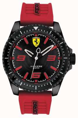 Scuderia Ferrari Xx kers schwarzes Zifferblatt rotes Kautschukband 0830498
