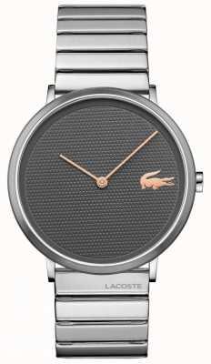 Lacoste Mondgraues Zifferblatt, Gehäuse und Armband aus Edelstahl 2010954