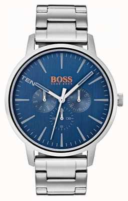 Hugo Boss Orange Blaues Zifferblatt mit Datums- und Datumsanzeige aus Edelstahl 1550067