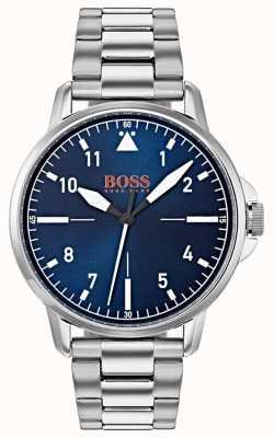 Hugo Boss Orange Blaues Zifferblatt aus Edelstahlarmband 1550063