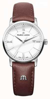Maurice Lacroix Damen eliros braunes Lederband silberne Dialladies EL1094-SS001-110-1