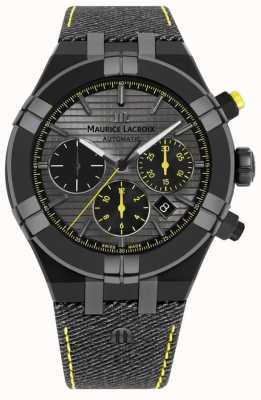 "Maurice Lacroix Limitierte Auflage aikon ""jage your watch"" schwarzen Armband AI6018-PVB01-331-1"