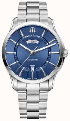 Maurice Lacroix Herren Pontos blaues Zifferblatt Edelstahl Armband PT6358-SS002-430-1