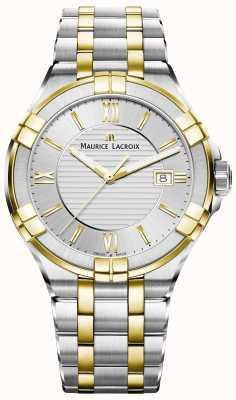Maurice Lacroix Herren Aikon zweifarbiges Armband vergoldet AI1008-PVY13-132-1