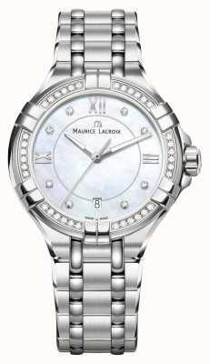 Maurice Lacroix Damen Aikon Perlmutt Zifferblatt Edelstahl Armband AI1006-SD502-170-1