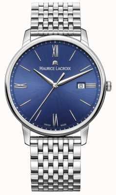 Maurice Lacroix Eliros Herrenarmband aus blauem Zifferblatt aus Edelstahl EL1118-SS002-410-2