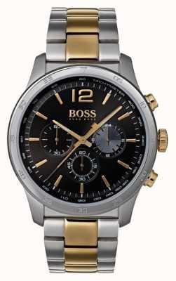 Boss Professionelle Herren Chronographenuhr mit zweifarbigem Armband 1513529