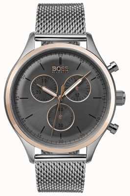 Boss Herren Begleiter Chronograph Uhr grau 1513549