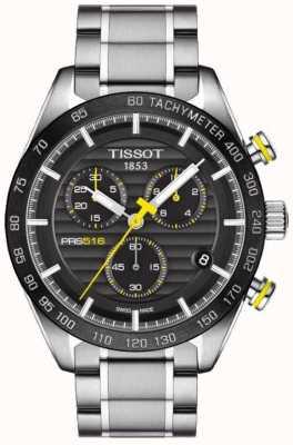 Tissot Herren Prs 516 Chronograph schwarz Zifferblatt Edelstahl Armband T1004171105100