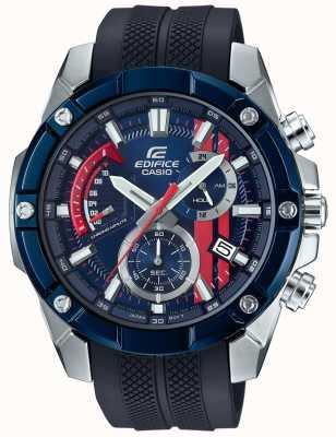 Casio Edifice toro rosso gummiband blaues Zifferblatt EFR-559TRP-2AER