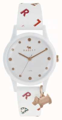 Radley Womens Buchstaben sehen weißes Silikon aus RY2602
