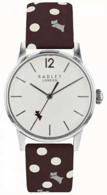 Radley Womens Vintage Hund Punkt Uhr weißes Zifferblatt RY2565