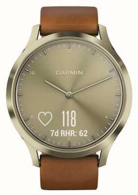 Garmin Vivomove HR Premium Aktivitätstracker Gold / Leder 010-01850-05
