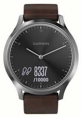 Garmin Vivomove hr (large) Premium Aktivitäts-Tracker Stahl / Leder 010-01850-04