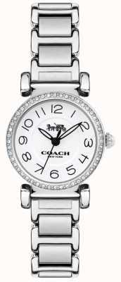 Coach Damenarmbanduhr aus Madison-Stahl mit weißem Zifferblatt 14502851